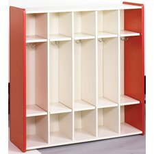 1000 Series 1 Tier 5-Section Cubbie Preschool Locker