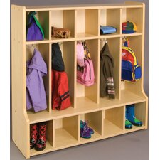 2000 Series 1 Tier 5-Section Cubbie Floor Locker