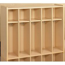 2000 Series 1 Tier 16-Section Cubbie Toddler Locker