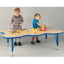 """My Place"" Play Rectangular Geometric Classroom Table"