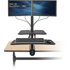 Up-Rite Desk with Mounted Sit/Stand Workstation