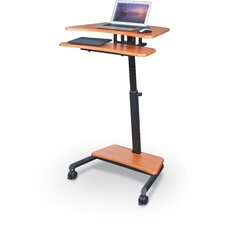Up-Rite Laptop Cart with Sit/Stand Desk