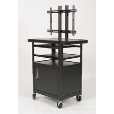 Height Adjustable Flat Panel AV Cart