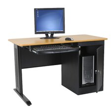 LX Computer Desk with Locking CPU Holder