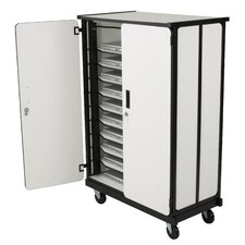 10-Compartment Laptop Storage Cart