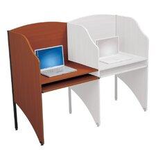Floor Carrel Cherry Laminate Study Carrel Desk Add-On