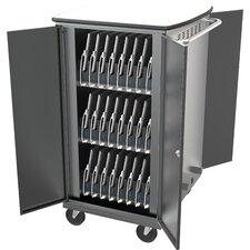 16-Compartment Laptop Charging Cart
