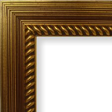 """2.13"""" Wide Painted Ornate Wood Grain Picture Frame"""