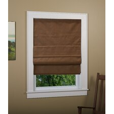 Huntington Linen Cordless Thermal Backed Roman Shade w/ Blackout Fabric
