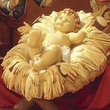 Scale Infant Jesus Nativity Figurine Christmas Decoration