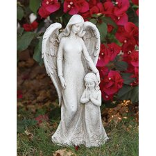 Contempo Angel with Child Statue