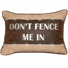 Abigail and Lily Equine Don't Fence Me In Western Style Cowboy Boudoir/Breakfast Pillow
