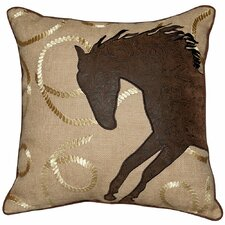 Abigail and Lily Equine Wild N Free Mustang Western Style Cowboy Throw Pillow