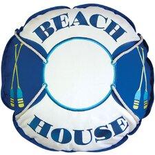I Sea Life Coastal Beach House Preserver Outdoor Sunbrella Throw Pillow