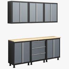 RTA Series 6' H x 6.5' W x 1.5' D 8-Piece Cabinet Set