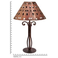 """Tribal 22.25"""" H Table Lamp with Empire Shade"""