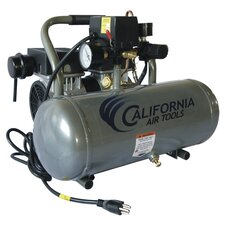 1.6 Gallon Ultra Quiet and Oil-Free 1.0 HP Aluminum Tank Air Compressor