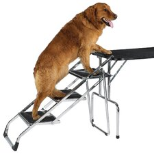 Non-Skid 3 Step Pet Stair for Grooming Table and SUV's
