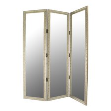 "72"" x 60"" Mirrored 3 Panel Room Divider"