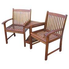 Highland Acacia Adjoining Patio Chairs