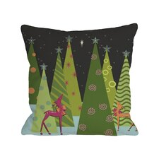 Christmas Tree Parade Throw Pillow