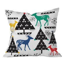 Zoe Wodarz Geo Woodland Trees Throw Pillow