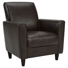 Enzo Faux Leather Arm Chair