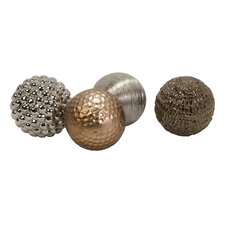 4 Piece Decorative Ball Sculpture Set