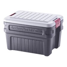 24 Gallon Action Packer Storage Container in Black
