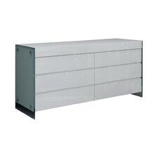 II Vetro 6 Drawer Dresser