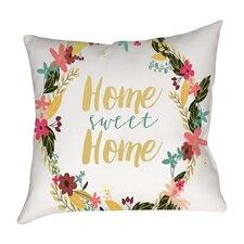 Home Sweet Home Cotton Throw Pillow
