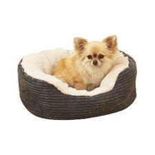 40 Winks Oval Jumbo Pet Bed in Grey