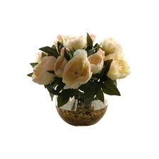 Peonies in Glass Ball