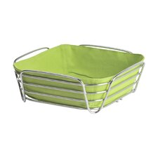 Delara Steel Wire Bread Basket in Chrome