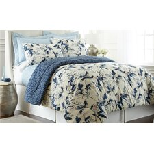 Mianka Comforter Set in Blue & Cream