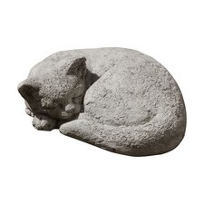 Small Curled Cat Statue