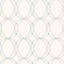 """Darcy Pearl 33' x 20.5"""" Geometric Wallpaper"""
