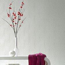 "Paintable Curvy 32.8' x 20.5"" Geometric Embossed Wallpaper"