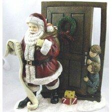 Santa with Peeping Children