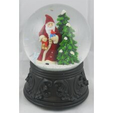 Old Father Christmas with Tree Musical Waterglobe