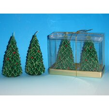 Medium Tree Candles (Box of 2) (Set of 2)