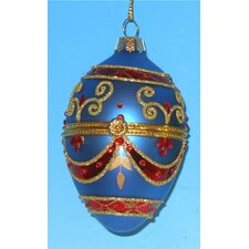 Faberge Style Opening Delicately Egg Ornament