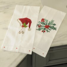 Holly Bunch Guest Towel (Set of 2)