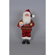 Christmas Popcorn Santa Figurine