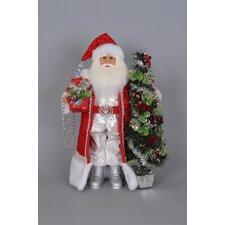 Christmas Lighted Arcadian Santa Figurine