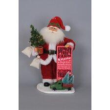 Christmas Lighted Tree Farm Santa Figurine