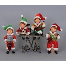 Christmas 4 Piece Wine Elf Figurine Set