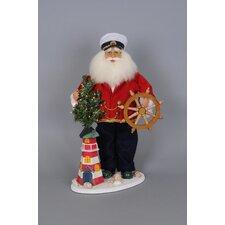 Christmas Limited Edition Lighthouse Captain Santa Figurine