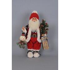 Christmas Lighted Winter Fun Santa Figurine