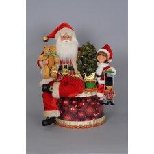 Christmas Lighted Traditional Glow Santa Figurine